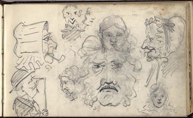 Sketch in field notebook, by Ben Peach.