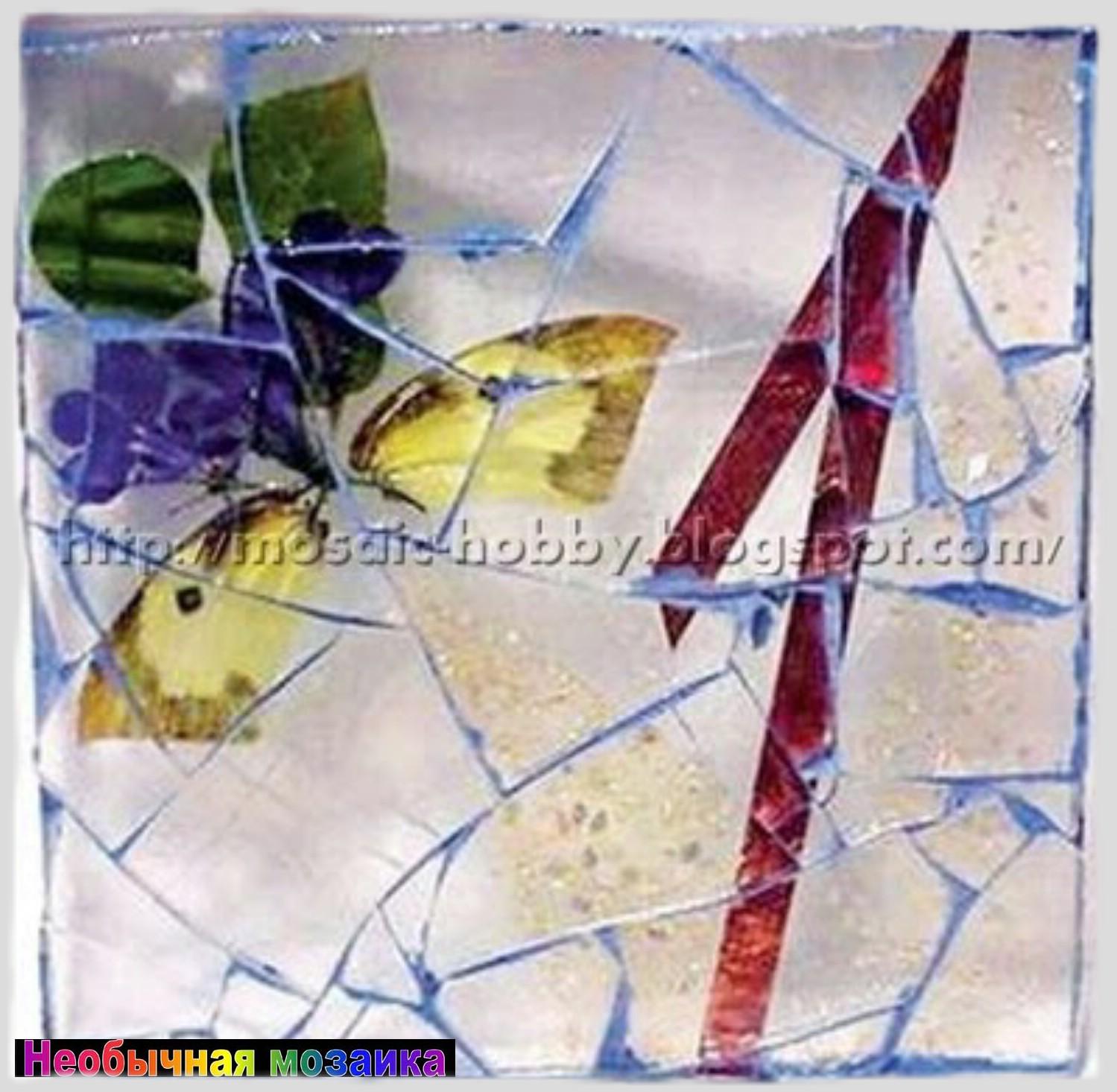 Мозаика из стекла своими руками фото