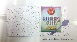 Teebeutelverpackung mit Stampin Up Teestunde und Designerpapier noch ein tässchen
