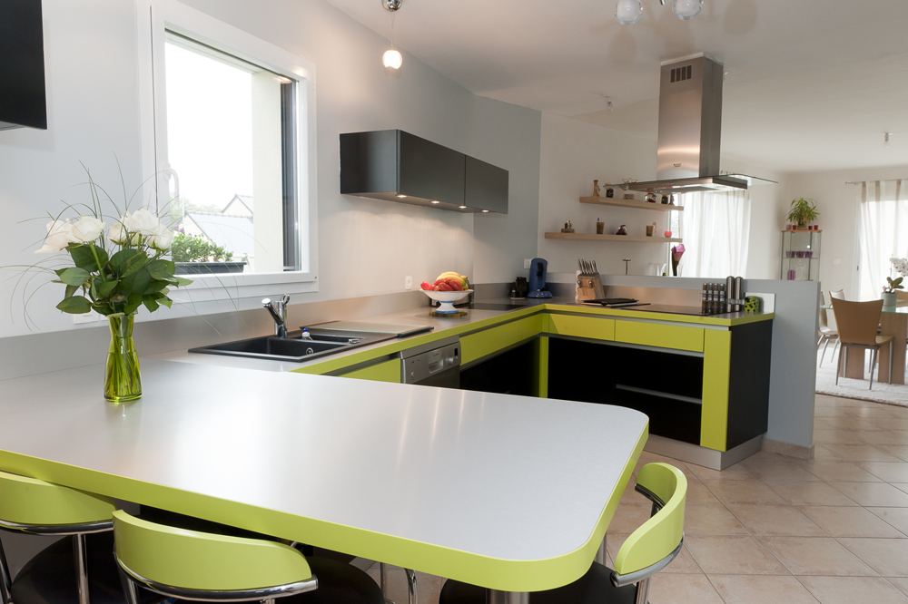 le blog de caradec cr ations une cuisine moderne et. Black Bedroom Furniture Sets. Home Design Ideas