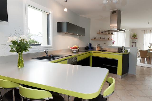 Le blog de caradec cr ations une cuisine moderne et for Plancha cuisine integree