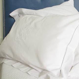 Monogram pillow cases are perfect Mothers Day gift and go lovely with padded bedhead.