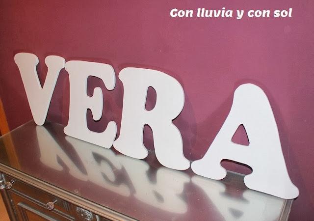 Con lluvia y con sol letras de pared para decorar el - Letras de nombres para decorar ...