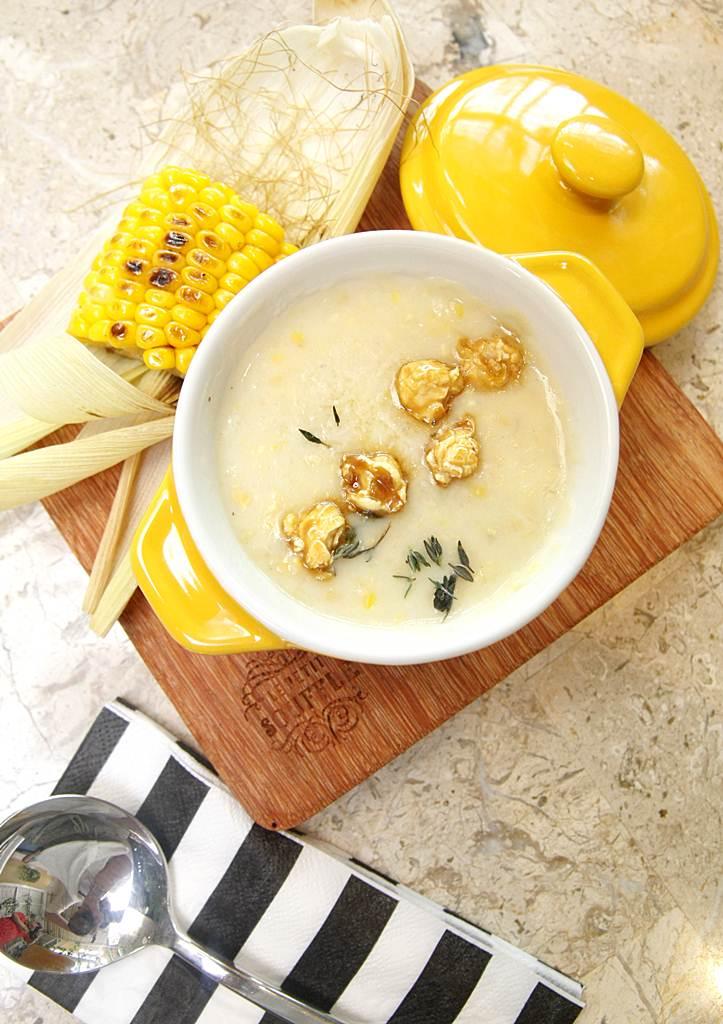 Le Petit Soufflé sweet corn potage