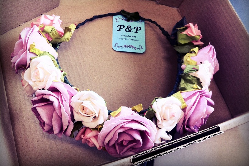 DIY, floral crown, flowers, label, Etsy, floral garland, DIY floral crown, P&P crowns