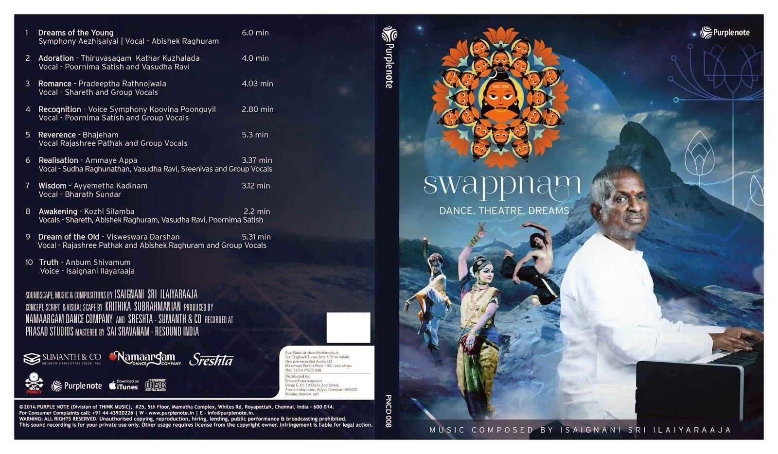 SWAPPNAM -A DREAM ON SIVA Swappnam-CD-Cover