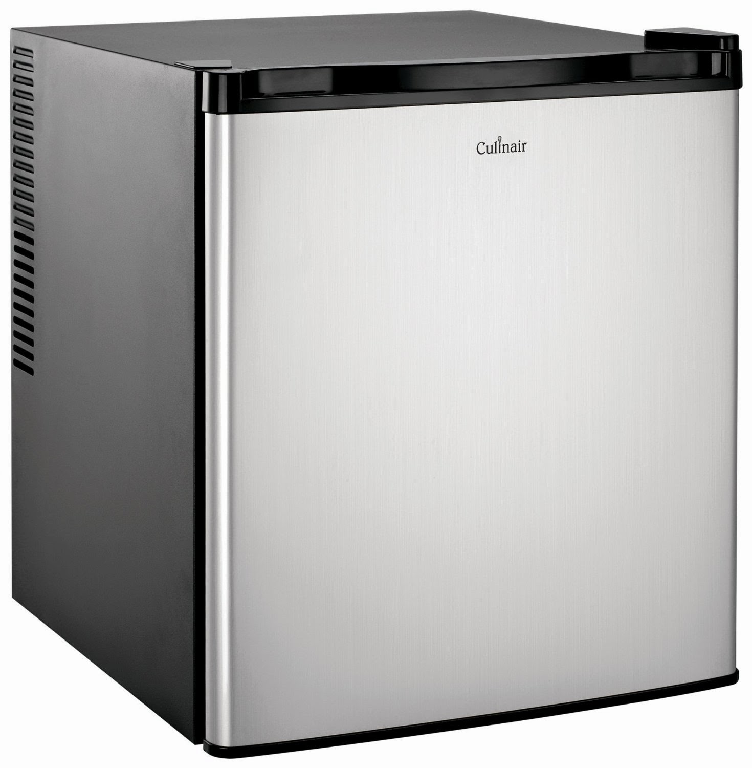 mini fridge with lock silver and black culinair 1 7 cf compact refrigerators