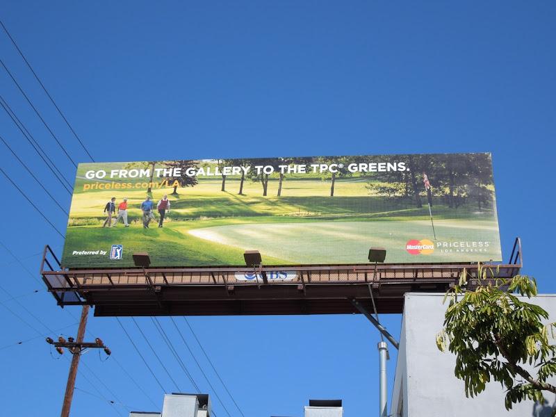 Mastercard Priceless golfing billboard