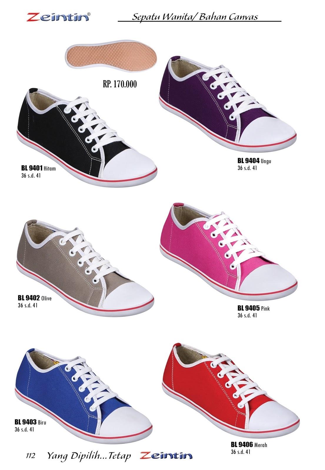 Zeintin Karang Tengah Sepatu Wanita Anak Cewek Warna Ungu