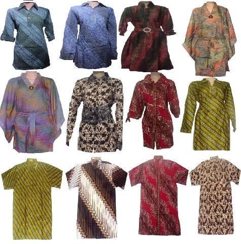 ... model baju batik muslim modern dan model baju batik