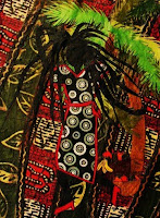 "PATRICIA ANN WILSON ""Rasta Woman with Black and White Dot Dress"""