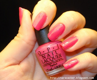 naglar, nails, nagellack, nail polish, opi, opi strawberry margaritha
