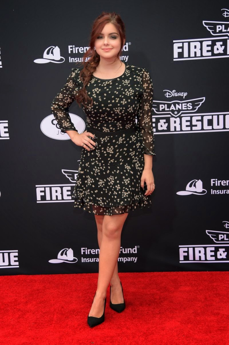 Ariel Winter in a little black dress at Disney's 'Planes: Fire & Rescue' LA Premiere