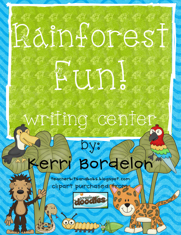 Rainforest writing paper