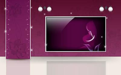 Furniture And Interior Arts Design - Purple Home Theater