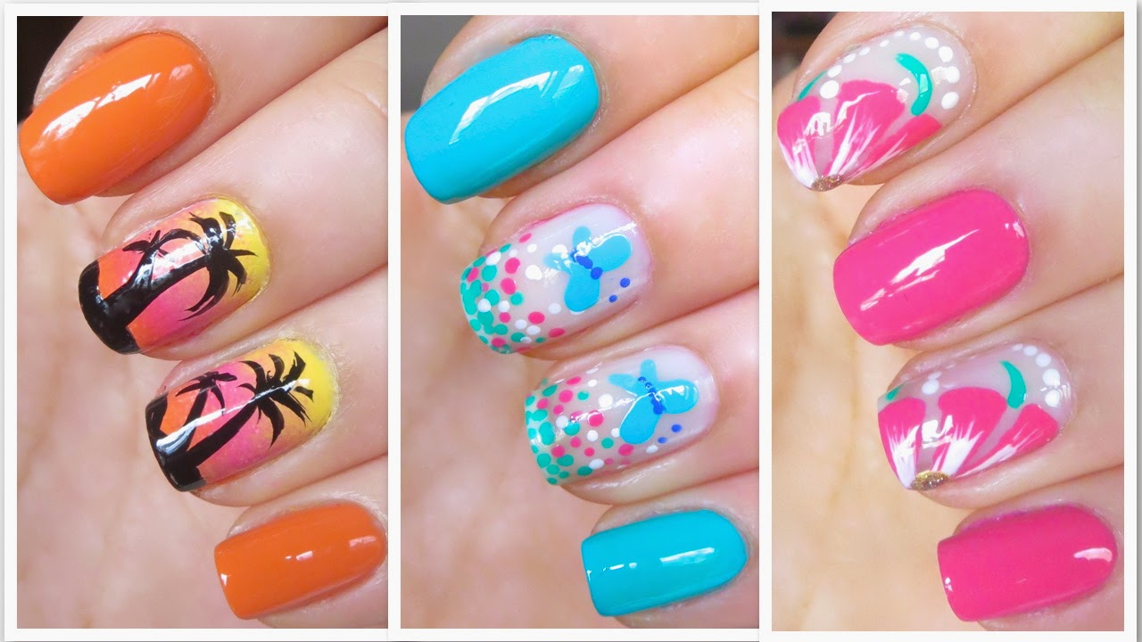 Leila Ramos Nails 3 Easy And Cute Nail Art Designs For Summer 2014