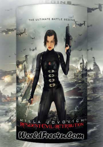 Poster Of Resident Evil 5 (2012) Full English Movie Watch Online Free Download At Downloadingzoo.Com