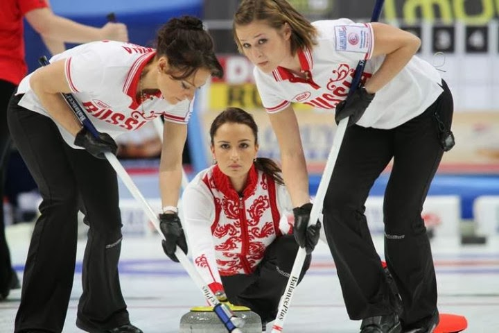 Hottest Russian women curling team Photos: Alexandra Saitova | Ekaterina Galkina | Anna Sidorova