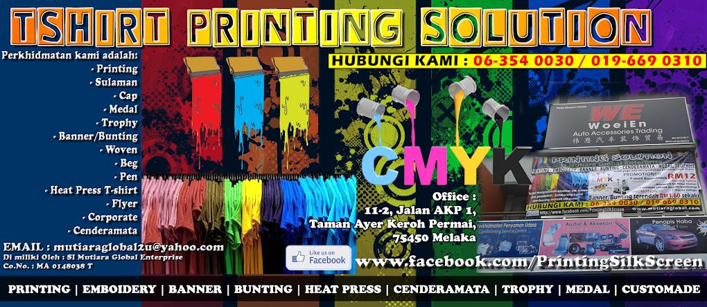 Tshirt Printing/Silkscreen/Sulaman/Banner/Cenderamata/Heat Press