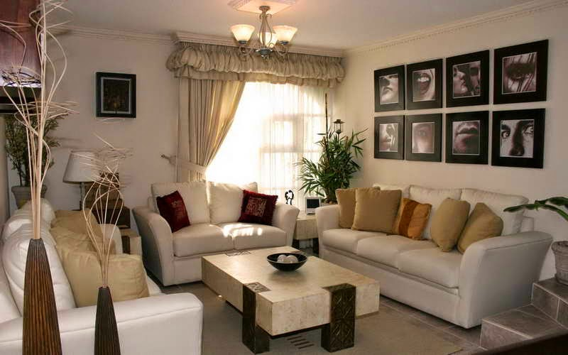 living room ideas brown sofa curtains awesome