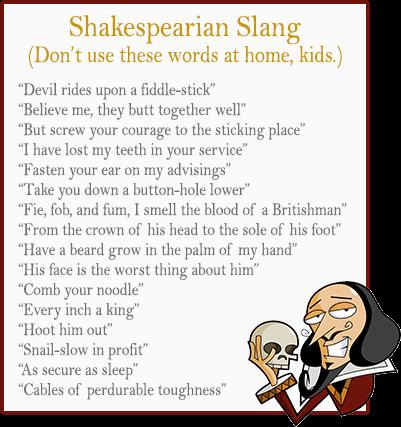 Shakespearian Slang