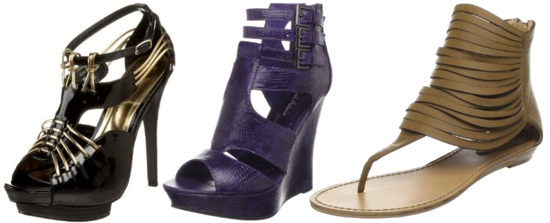 Gold Strappy Shoes Uk
