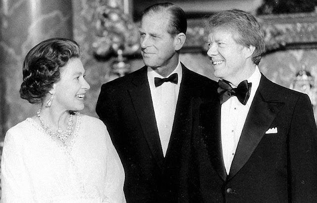 Queen Elizabeth and President Jimmy Carter