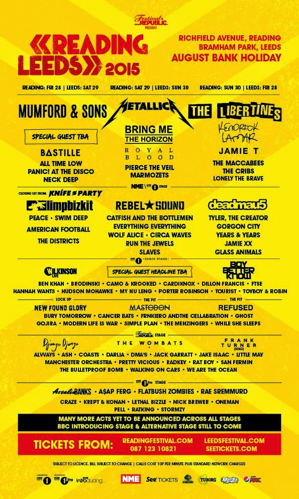 Reading and leeds 2015 line up