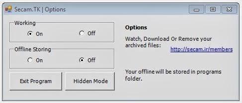 Secam.tk Application Dashboard