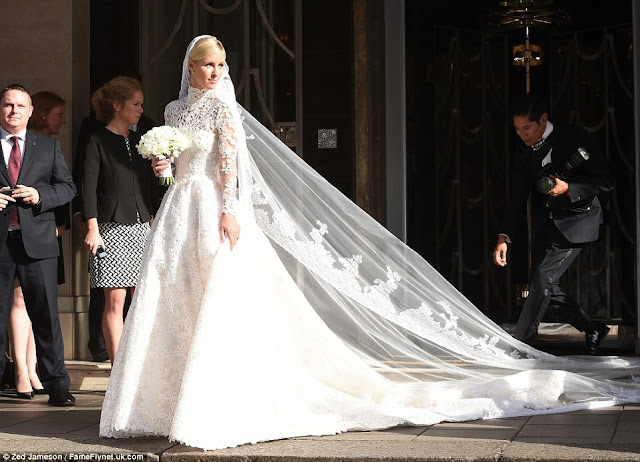 Nicky Hilton wears Valentino Couture to wedding with James Rothschild