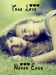 True Love Never Ends 240x320 Mobile Wallpaper