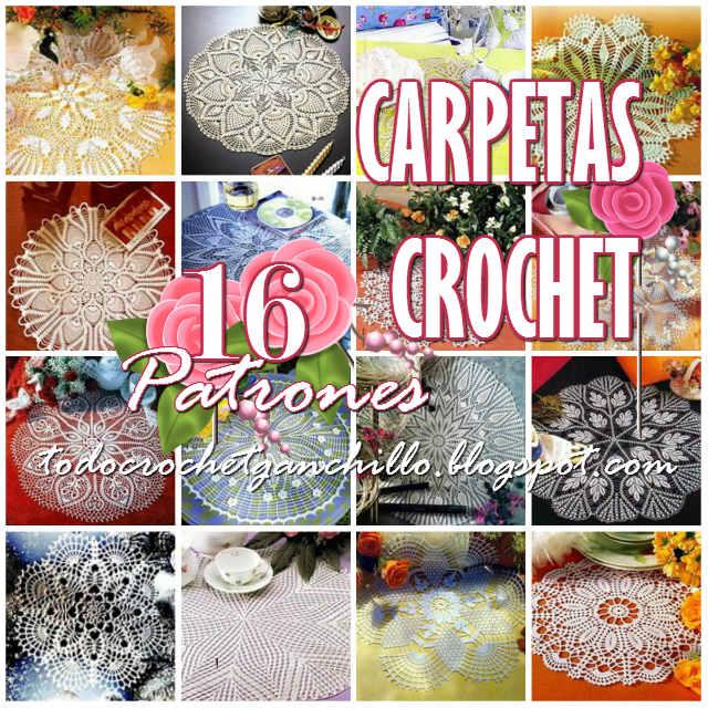 16 patrones de carpetas crochet
