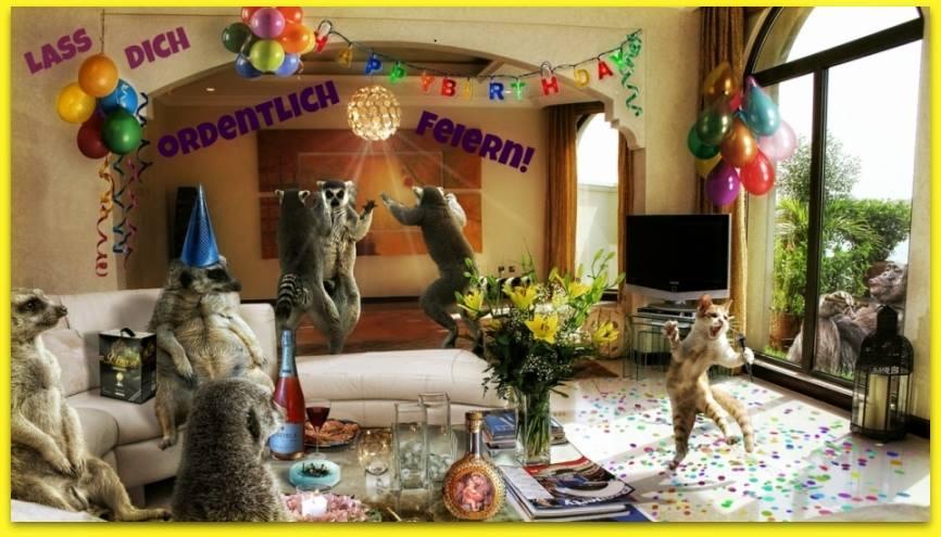 Lass Dich Ordentlich Feiern Happy Birthday