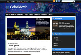 ColorMovie Blogger Template
