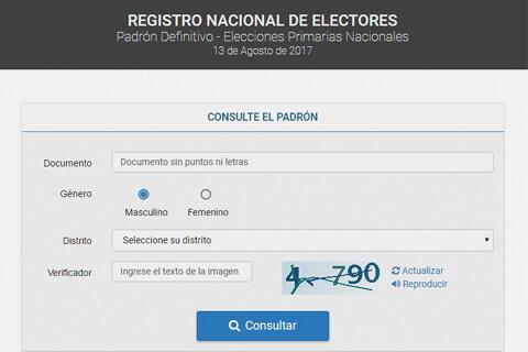 SEPA DÓNDE VOTA - PASO 2017
