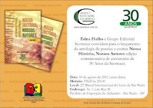 Convite para lançamento na Bienal de São Paulo