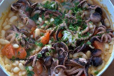 Moscardini stufati con faglioli ricetta di pesce stufato con legumi