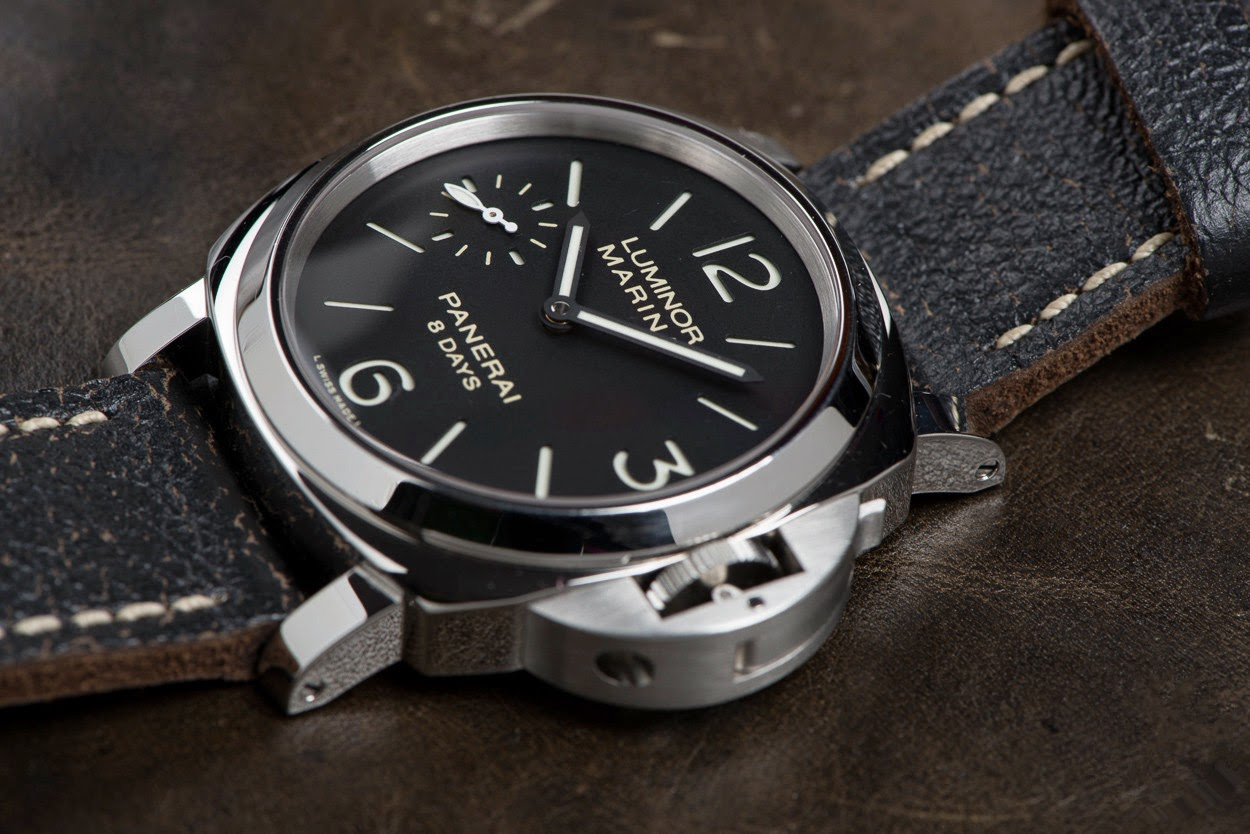 swiss design watches panerai luminor marina 8 days pam00510 review. Black Bedroom Furniture Sets. Home Design Ideas