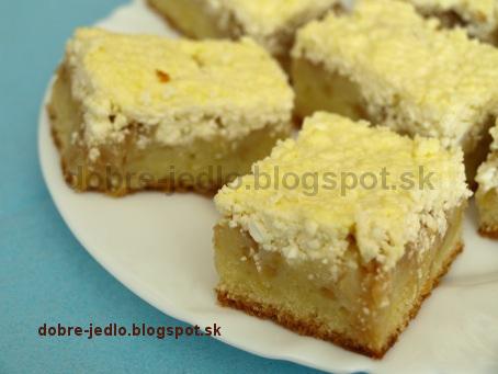 Jablkový koláč s tvarohom - recepty