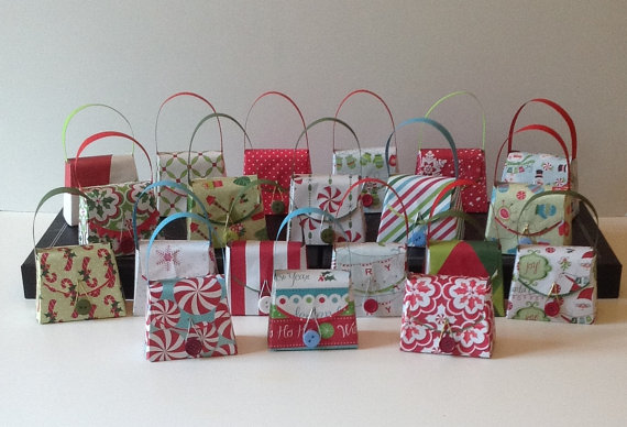 small christmas gift boxesparty favors via fancywhatnots christmas packaging ideas