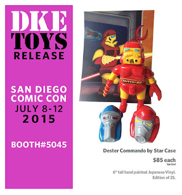 "San Diego Comic-Con 2015 Exclusive Marvel Edition ""Iron Man"" Dester Commando Vinyl Figure by Star Case"