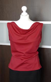 bluzka, dzianina, dzianinowa, top, czerwona, bez rękawków, blouse, knitwear
