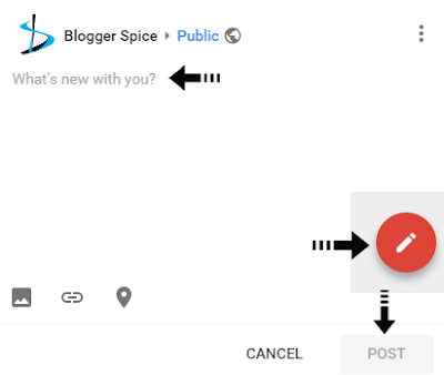 sharing new content on G+