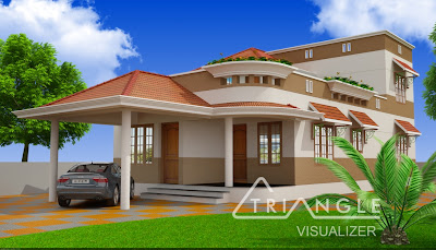 Kerala home design - Architecture house design ideas from Triangle