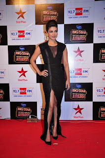 Priyanka Chopra Pictures in Black Long Dress at BIG STAR Entertainment Awards 2014 ~ Celebs Next