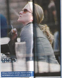Edith Bowman Smoking