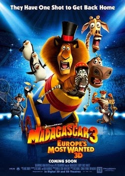 Watch Madagascar 3: Europe's Most Wanted (2012) 3D Tamil Dubbed Original Audio Watch Online For Free Download