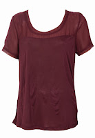 Tricou VILA Ophta Dark Red (VILA)