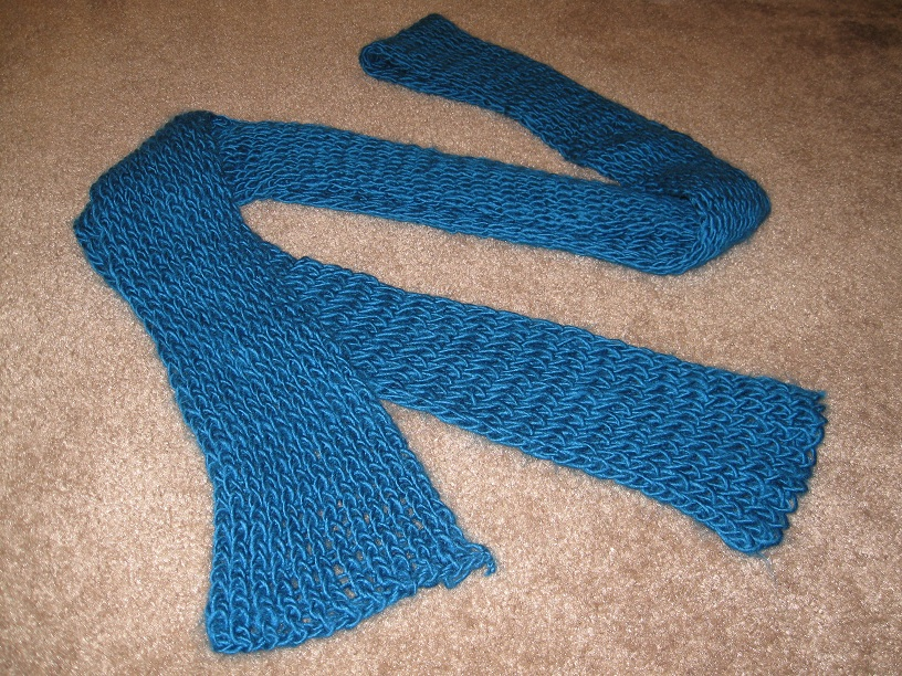 Straight Knitting Loom Scarf Pattern : Explorations of Your Inner Crafter: Loom Knitting - Jan 2013 Monthly Challenge