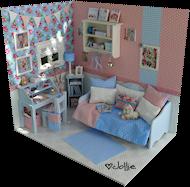"""Diorama """"Shabby Springtime"""""""